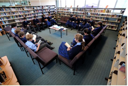 This is how the reading area has traditionally appeared.